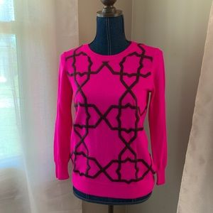 Fuschia Lattice Sweater